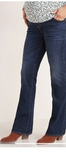 Old Navy Dark Wash Bootcut Full Panel Mat. Jeans